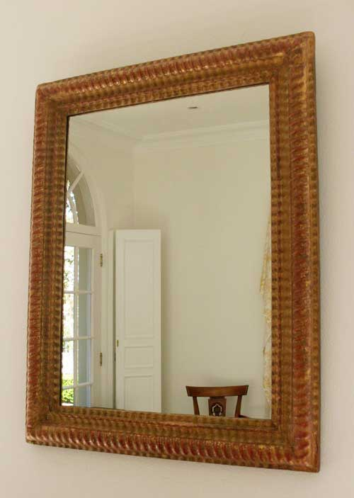 French Gilded Mirror Image