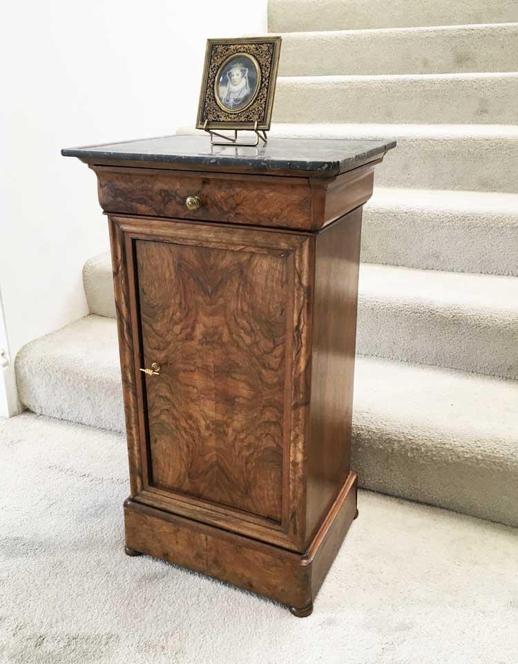 Walnut Louis Philippe Bedside Cabinet Image